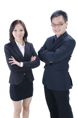 women and men: asian business team photo Stock Photo