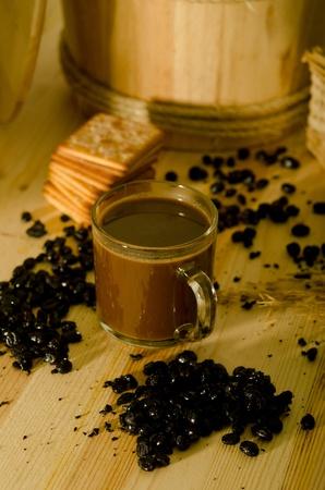 kopitiam: traditional chinese nan yang malaysian style coffee  Stock Photo