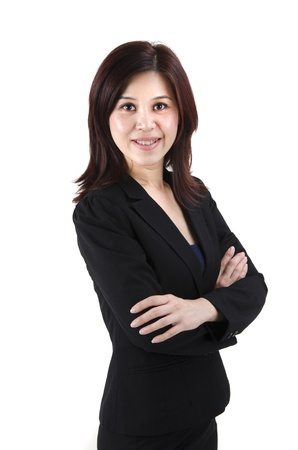 the whole body: confident asian business woman Stock Photo