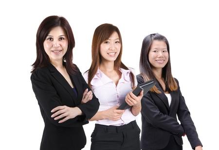 asian business team: confident asian business woman team Stock Photo
