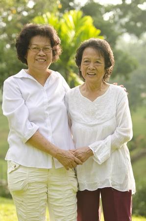 asian senior woman photo