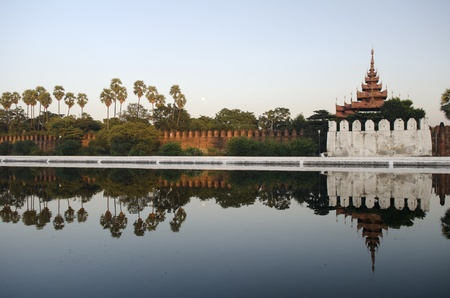 mandalay fort in myanmar photo