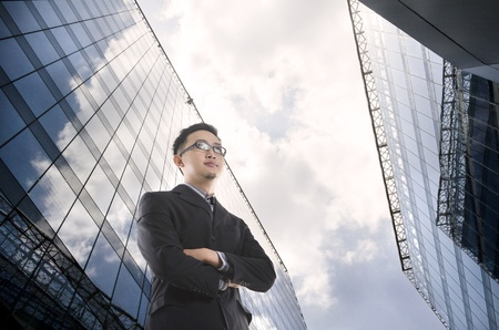 business man shot from a low angle photo