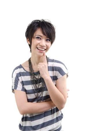 Asian woman on white background Stock Photo - 13117496