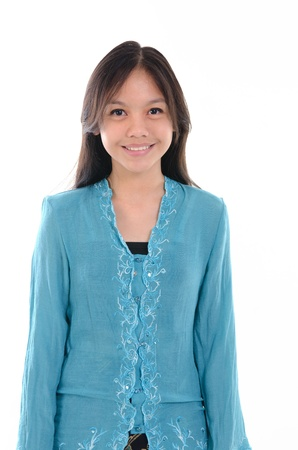 malay ethnicity: traditional malay girl in kebaya Stock Photo