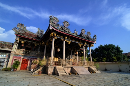 Khoo kongsi temple at penang, world heritage site photo