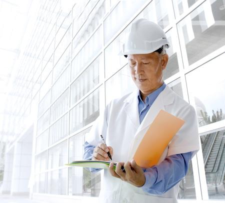 profesional: asian senior engineer Stock Photo