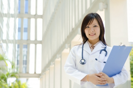 doctor's office: asian chinese medical student