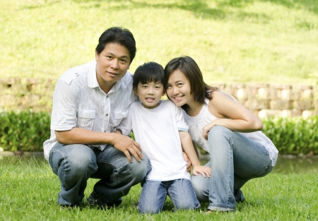 asian family outdoor Stock Photo - 13753222
