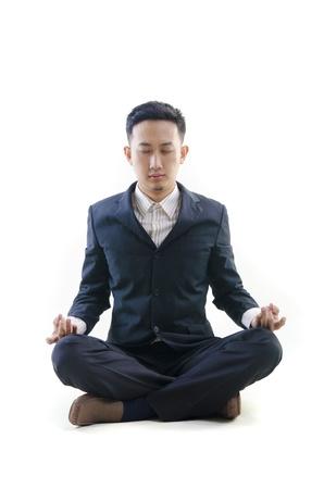 asian business man yoga Stock Photo - 14186150