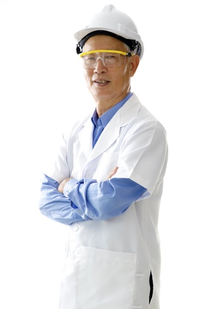 asian senior engineer photo