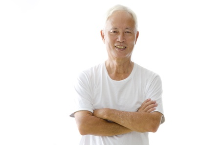 citizens: happy asian senior male
