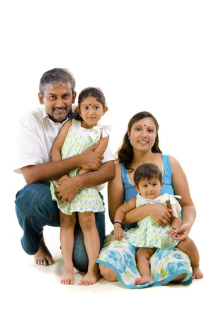 dhoti: asian indian family with casual clothes
