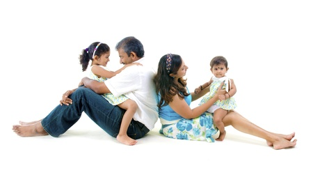 indian asian family having fun Stock Photo - 14378723