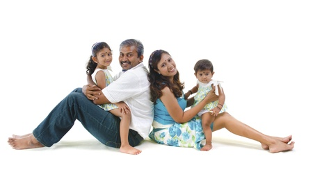 indian asian family having fun  photo