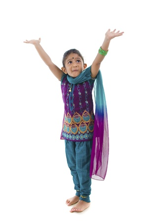 surprised child: shocked little traditional indian girl Stock Photo