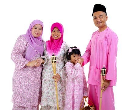 malay family during raya photo