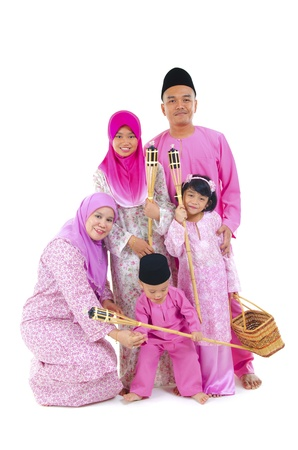 malay family during hari raya  aidilfitri photo
