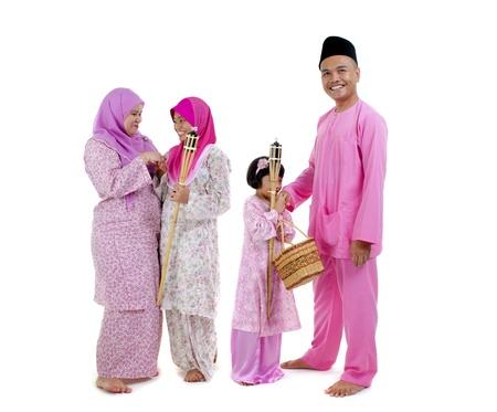 traditional malay family during hari raya occaion Stock Photo - 14735771