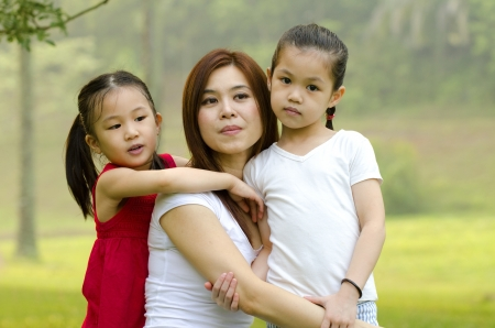 asian mother and two daughters Stock Photo - 14898761