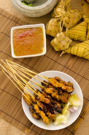 satay malay hari raya foods ,focus on satay Stock Photo - 14990248