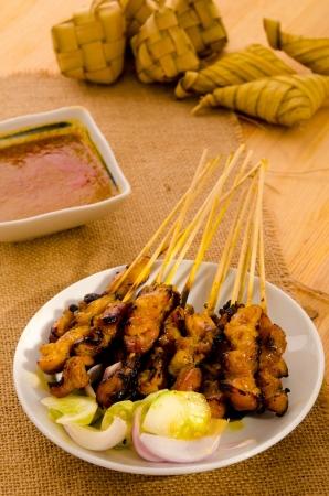 satay malay hari raya foods ,focus on satay  photo