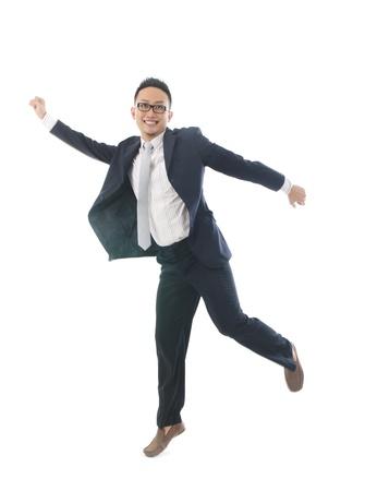 Asian male model: kinh doanh nam châu Á nhảy trong niềm vui