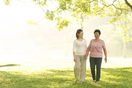 two adult , daugther and her mother Stock Photo - 14977588