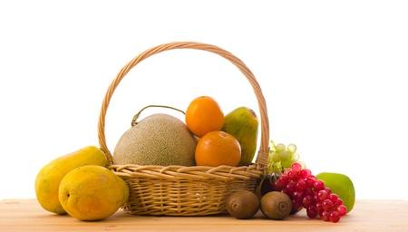 group on fruits on basket photo