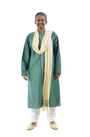 indian male in dhoti dress, full body photo