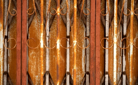 Background of rusty gate, Stock Photo - 15086496
