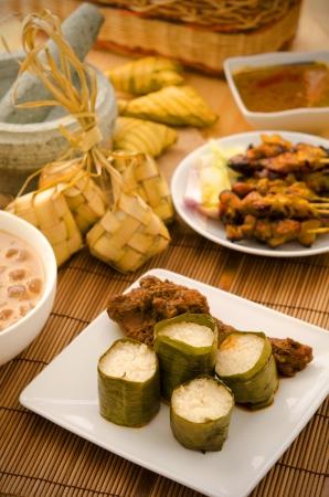 hari raya malais aliments lemang, se concentrer sur lemang Banque d'images - 15086770