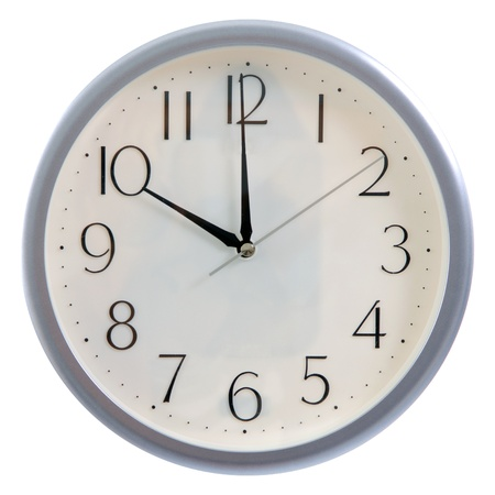 oclock: isolated white clock at 10pm or 10am