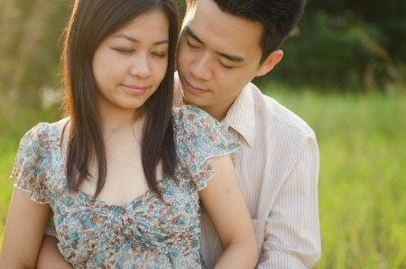 asian romantic couple  photo