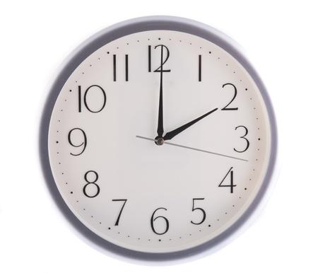 oclock: isolated white clock at 2