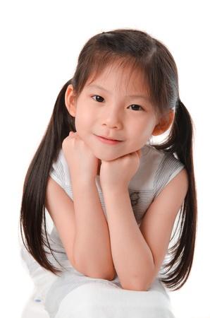 ojos marrones: cerca de fotos de lindo muchacha asiática poco