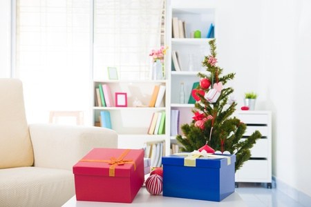 Closeup photo on table  Christmas decorations Stock Photo - 16323574
