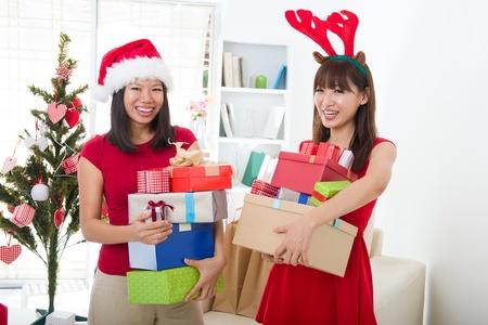 asian friend lifestyle christmas photo Stock Photo - 16323377