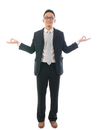 asian business yoga ,standing Stock Photo - 16322438