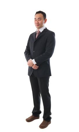 south east asian: Sur este hombre de negocios asi�tico, cuerpo completo etnia china Foto de archivo