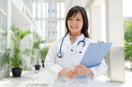 asian medical female student  photo