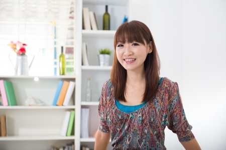 chinese female in living room lifestyle