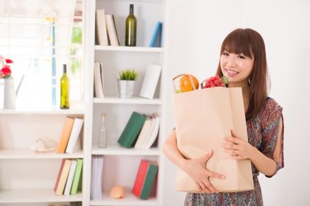 asian shopper: chinese female shopping
