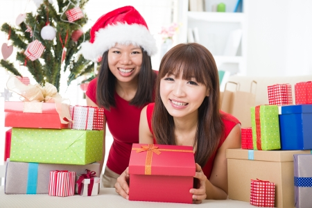 asian friends christmas celebration lifestyle Stock Photo - 16790775