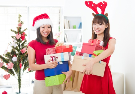 asian friends christmas celebration lifestyle Stock Photo - 16790762