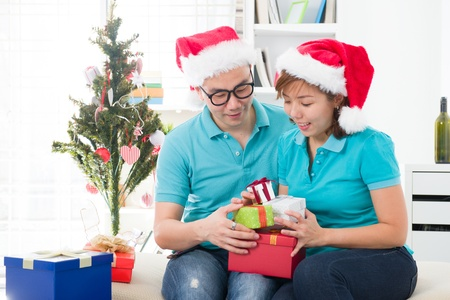 asia family christmas celebration, chinese south east asian people Stock Photo - 16790779