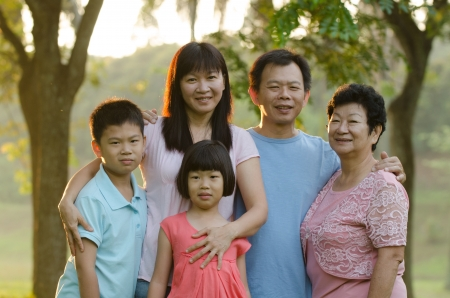 asian family outdoor enjoyment and quality time Stock Photo - 16926248