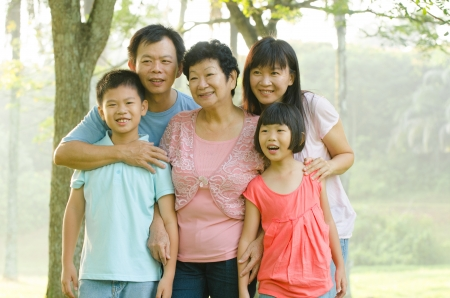 asian family outdoor enjoyment and quality time Stock Photo - 16926252