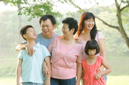 asian family outdoor enjoyment and quality time photo