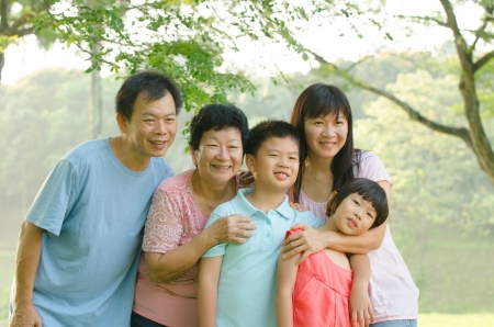 asian family outdoor enjoyment and quality time Stock Photo - 16926281